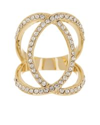 Ariella Collection - Metallic Open Circles Cz Ring - Lyst