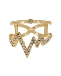 Ariella Collection - Metallic Heartline Ring - Lyst