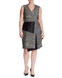 Rachel Roy | Black Patch Dress (plus Size) | Lyst