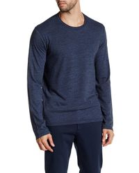 Velvet By Graham & Spencer | Blue Long Sleeve Crew Neck Sweater Tee for Men | Lyst