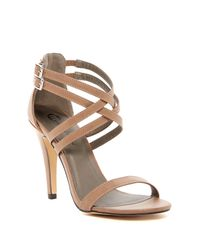Michael Antonio | Brown Rixy Double Strap Heeled Sandal | Lyst