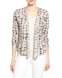 NIC+ZOE | Multicolor Loopy Linen Blend Four-way Convertible Cardigan | Lyst