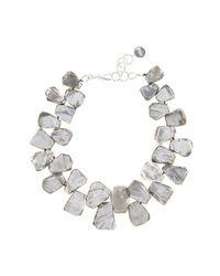 Nest - Metallic Silver Quartz Chunky Necklace - Lyst
