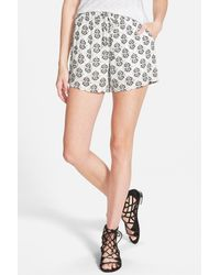 Splendid | White Medallion Print Short | Lyst