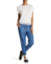 Splendid   Blue Rouched Leg Trouser   Lyst