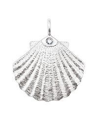 Thomas Sabo - White Diamond Accented Sterling Silver Shell Pendant - 0.017 Ctw - Lyst