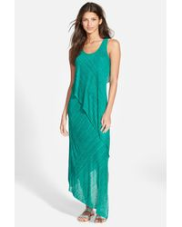 Splendid | Green Space Dye Jersey Dress | Lyst