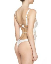 For Love & Lemons - White V-day Underwire Bodysuit - Lyst