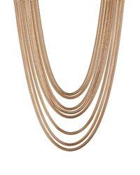 Steve Madden - Metallic Layered Snake Chain Necklace - Lyst