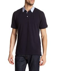 7 Diamonds | Blue Contrast Collar Polo for Men | Lyst