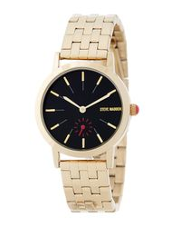Steve Madden - Metallic Women's Stainless Steel Bracelet Watch - Lyst
