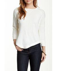 Sweet Romeo - White Raglan Sleeve Sweater - Lyst