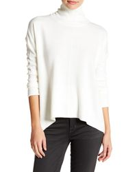 Sweet Romeo | White Seamed Front Mock Turtleneck Sweater (petite) | Lyst