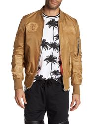 American Stitch - Natural Patched Flight Jacket for Men - Lyst