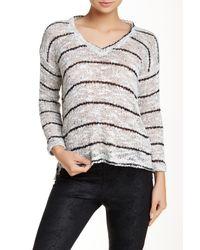 Splendid - White Broome Stripe Sweater - Lyst