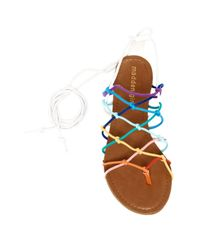 Madden Girl - Blue Starla Lace-up Sandal - Lyst