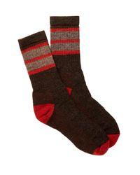 Smartwool - Red Stripe Chestnut Socks for Men - Lyst