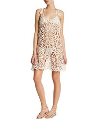 For Love & Lemons | White Riviera Crochet Lace Cover-up | Lyst