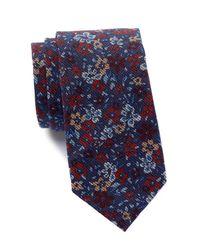 Ben Sherman - Blue Floral Tie for Men - Lyst