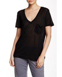 C&C California | Black Violet V-neck Short Sleeve Tee | Lyst