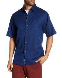 Tommy Bahama | Blue San Clemente Original Fit Silk Camp Shirt for Men | Lyst