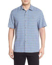 Tommy Bahama   Multicolor G Day Gingham Short Sleeve Silk Sport Shirt for Men   Lyst