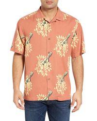 Tommy Bahama | Orange Hawaii Ukulele Original Fit Short Sleeve Silk Shirt for Men | Lyst