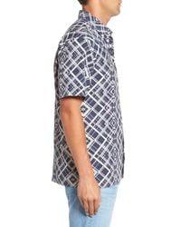 Tommy Bahama - Blue Dourados Diamonds Standard Fit Silk Camp Shirt for Men - Lyst