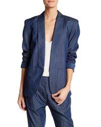 Thacker NYC | Blue Beau Boyfriend Blazer | Lyst