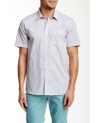 Ted Baker | White Karbiz Short Sleeve Geo Print Trim Fit Shirt for Men | Lyst