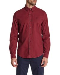 Timberland | Red Slim Fit Gingham Check Sport Shirt for Men | Lyst