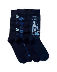 Tommy Bahama | Blue Hibiscus Camo Socks - Pack Of 4 for Men | Lyst