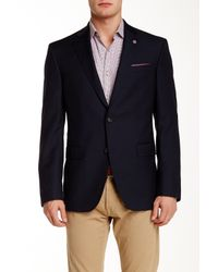 Ted Baker | Blue Extra Trim Fit Wool Touring Blazer for Men | Lyst