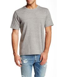 Threads For Thought | Gray Double Layer Crew Neck Tee for Men | Lyst