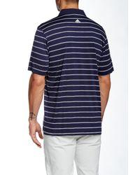 Adidas Originals - Blue Pure Motion 2-color Stripe Jersey Polo for Men - Lyst