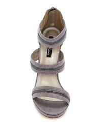 Michael Antonio - Gray Trials Zipper Platform Stiletto - Lyst