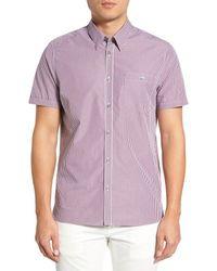 Ted Baker | Purple Spyeye Modern Slim Fit Gingham Sport Shirt for Men | Lyst
