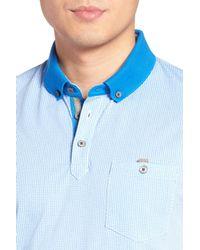 Ted Baker | Blue Kule Spot Print Polo for Men | Lyst