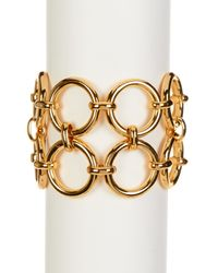 Trina Turk | Metallic Double Row Link Bracelet | Lyst