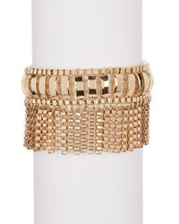 Trina Turk | Metallic Box Chain Fringe Bracelet | Lyst