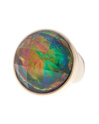 Trina Turk | Metallic Faceted Stone Cocktail Ring - Size 7 | Lyst