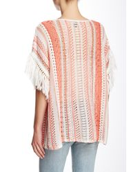 Tommy Bahama - Pink Amaranth Stripe Linen Blend Poncho - Lyst