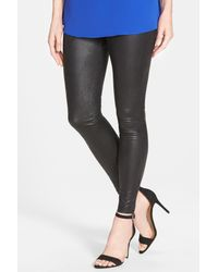 Hue | Black Python Texture Coated Leatherette Legging | Lyst