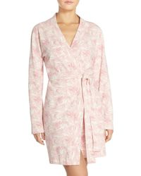 UGG | Pink Clio Island Floral Print Waffle Knit Robe | Lyst