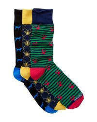 Unsimply Stitched | Green Assorted Socks - Pack Of 3 for Men | Lyst