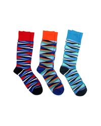Unsimply Stitched | Blue Combo Socks - Pack Of 3 for Men | Lyst