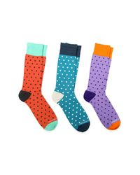 Unsimply Stitched - Blue Combo Sock - Pack Of 3 - Lyst