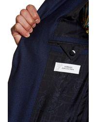 Versace   Blue Notch Lapel Two Button Wool Suit for Men   Lyst