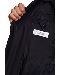 Versace - Blue Notch Lapel Two Button Solid Navy Suit for Men - Lyst