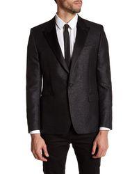 Versace | Black Notch Lapel Single Button Sportcoat for Men | Lyst
